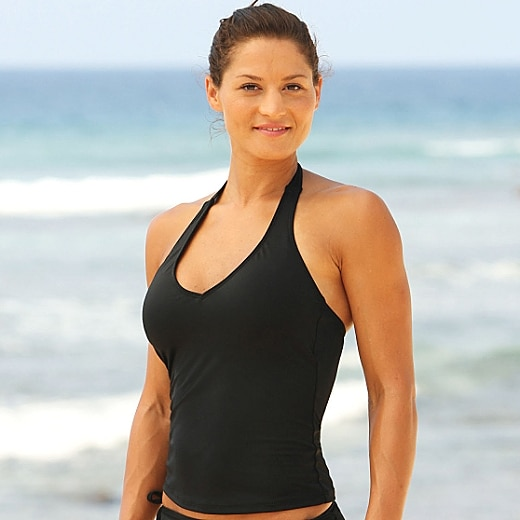 Athleta Halter Tankini Top - Black