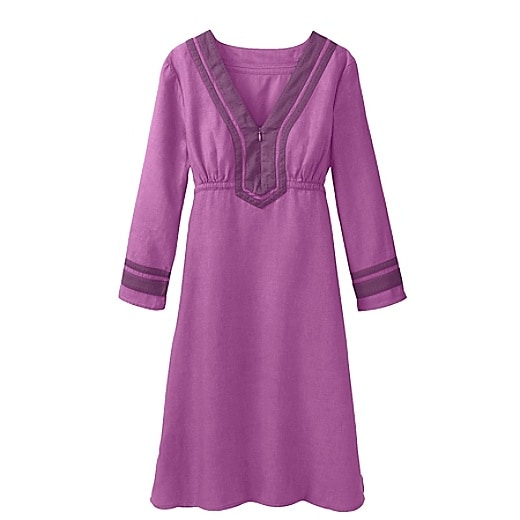 Women's Lanai Linen Dress - Berry Swirl