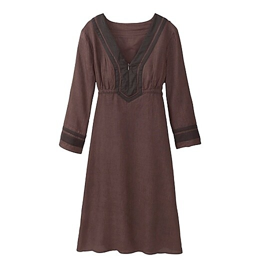 Women's Lanai Linen Dress - Coco Bean