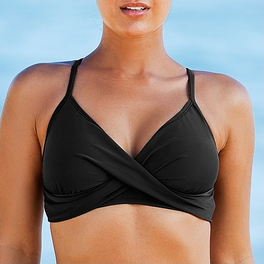 Athleta Bra Cup Twistini Black - Size 42C/40D/38DD Cup