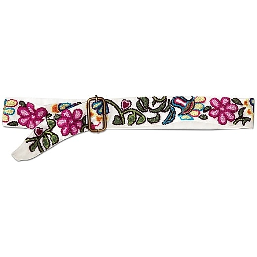Embroidered Wool Belt by Prana - White