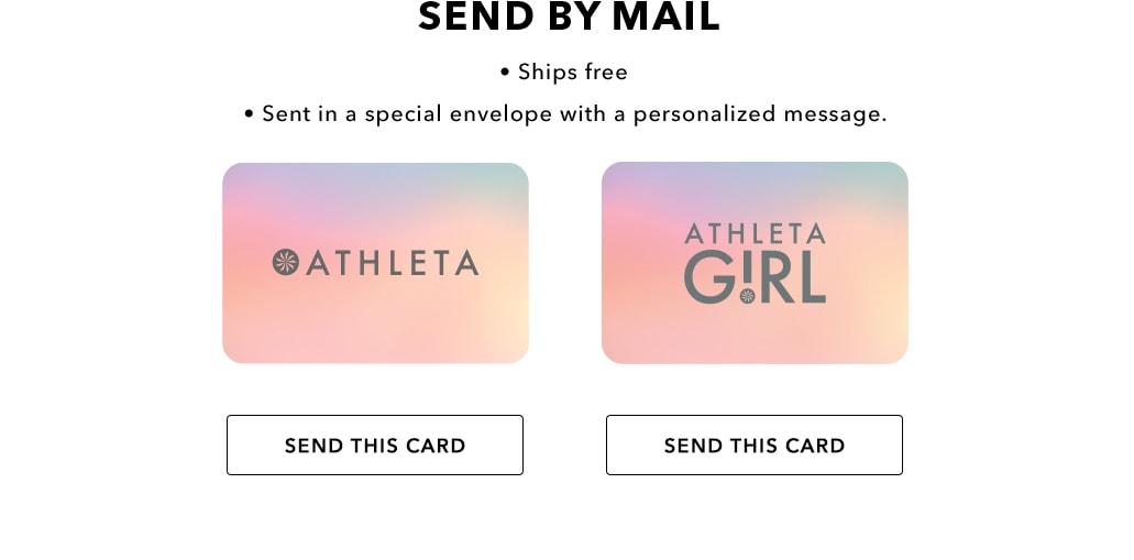 Gift Cards By Mail