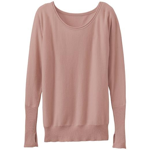 Athleta Mudra Cashmere Sweater - Mocha beige