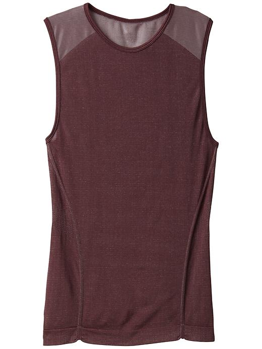 Athleta Womens Crush Metallic Tank Size XL - Black currant