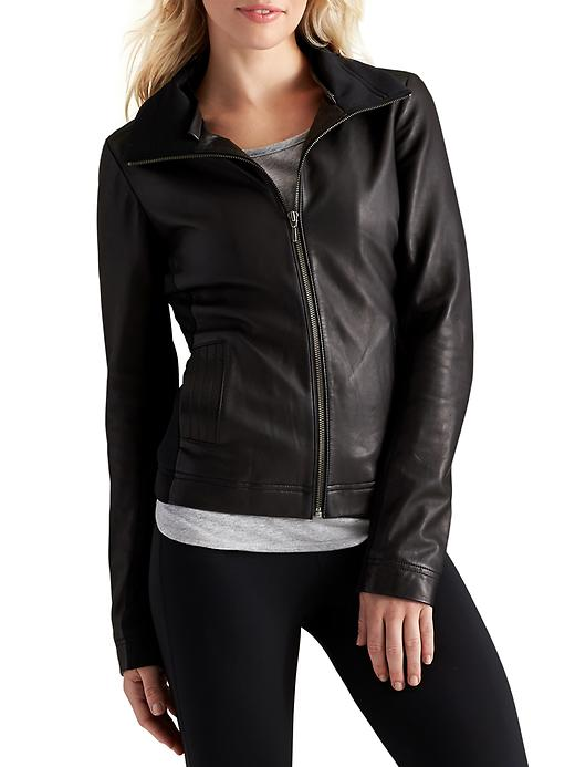 Athleta Womens Strut Leather Jacket Size XL - Black plus size,  plus size fashion plus size appare