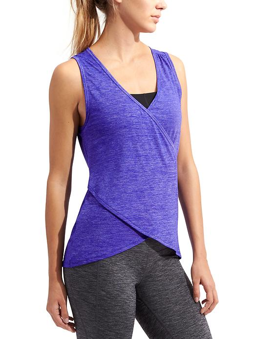 Athleta Womens Om Odyssey Tank Size L - Capri blue heather