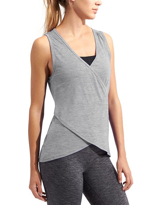 Athleta Womens Om Odyssey Tank Size L - Slate grey heather