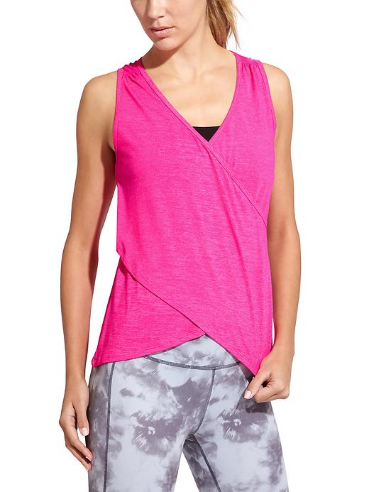Athleta Womens Om Odyssey Tank Size L - Brilliant magenta heather