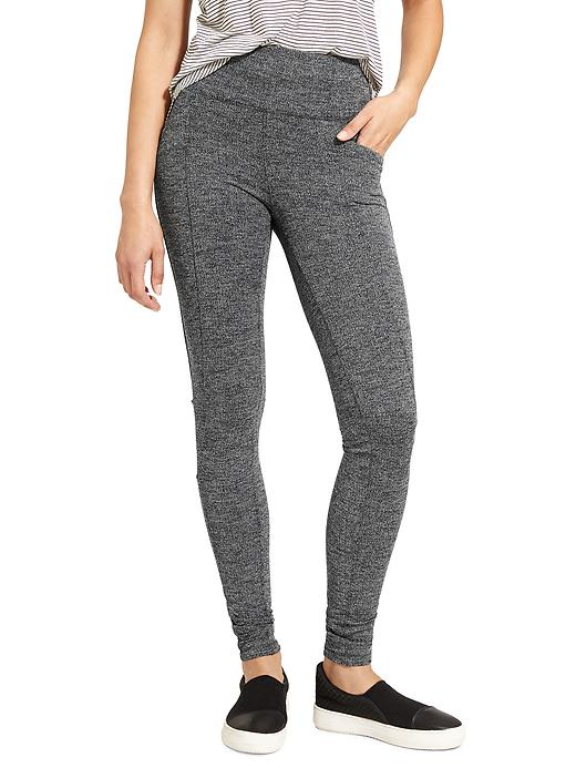 Athleta Herringbone Metro High Waisted Legging Black