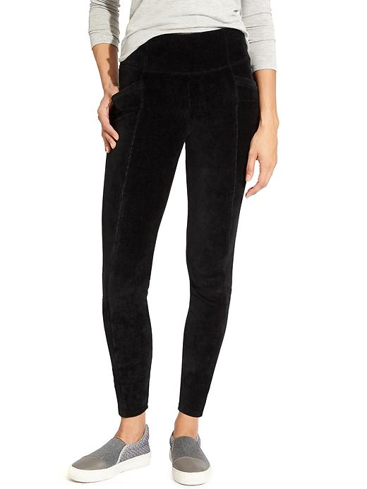 Athleta Cord High Waisted Metro Legging Black
