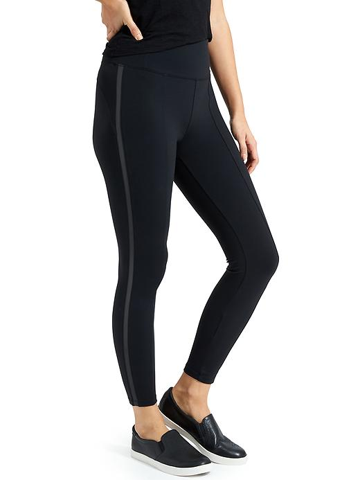 Athleta Metro 7/8 Tights Black/Black