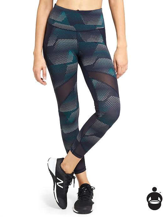 Athleta Kinetic Stealth Mesh 7/8 Tight - Constellation blue