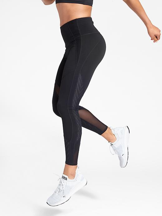 Athleta High Rise Precision 7/8 Tights Black