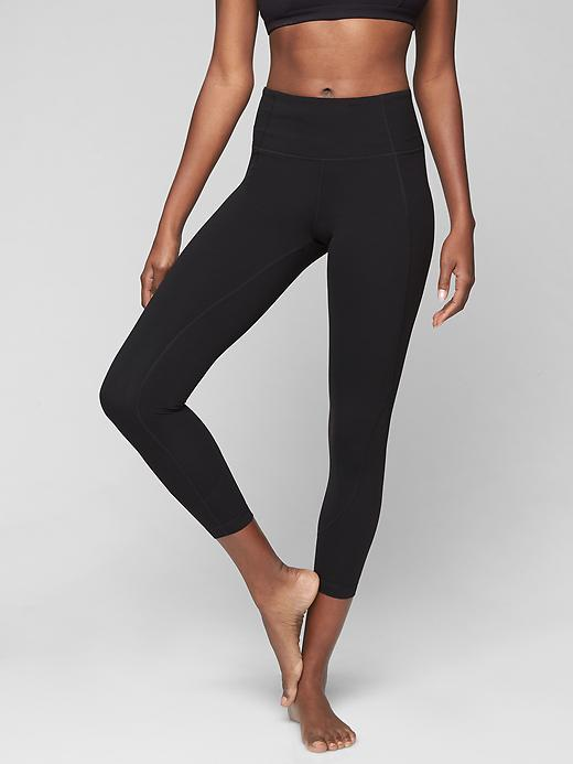Athleta Salutation 7/8 Tights Black