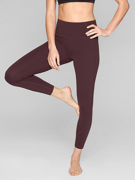 Athleta Salutation 7/8 Tights Cassis