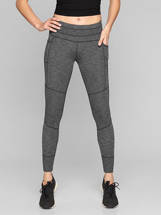 Athleta Excursion Tights Black Heather
