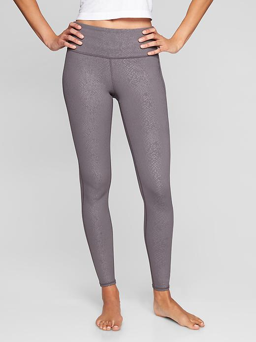 Athleta High Rise Serpent Chaturanga Tights Silver BellsX