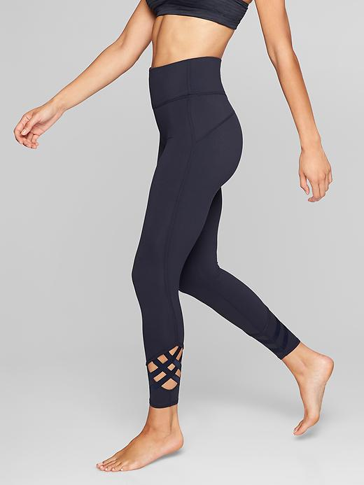 Athleta High Rise Sublime 7/8 Tights Navy