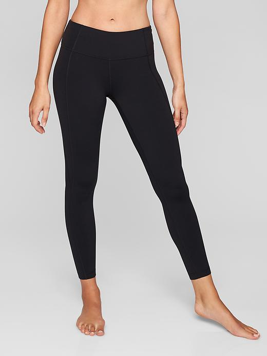 Athleta Mid Rise Salutation 7/8 Tights Black
