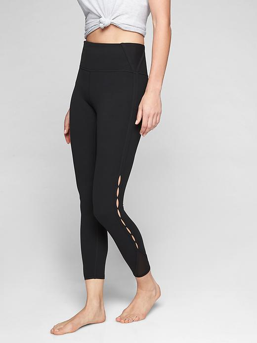 Athleta High Rise Peekaboo 7/8 Tights Black