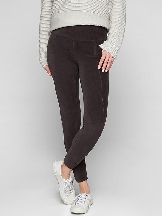 Athleta Cord High Waisted Metro Legging Dark Onyx Grey