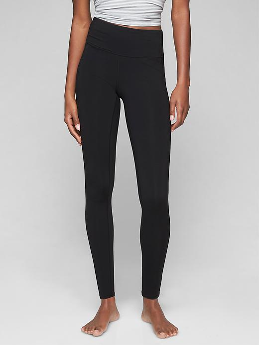 "Athleta Womens High Rise Chaturangaâ""¢ Tight Black Size M"