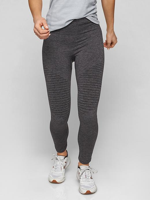 Athleta Seamless Training Tights Charcoal Grey Heather