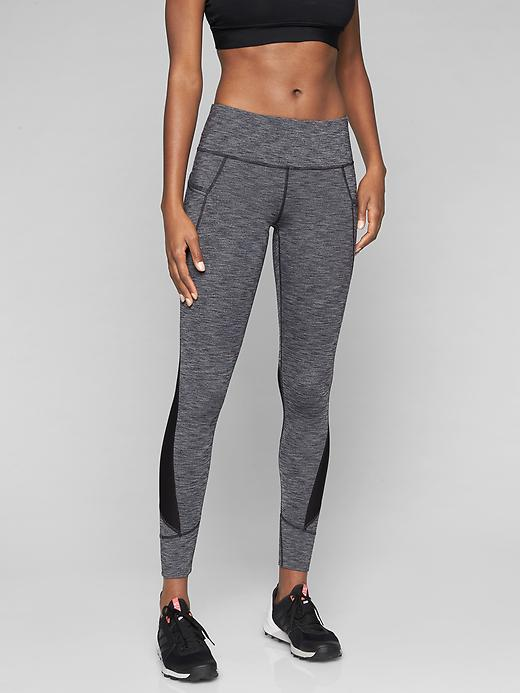Athleta Relay Tights 2.0 Black Heather