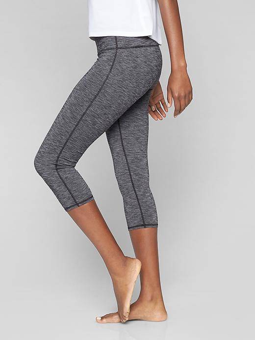 Athleta Chaturanga Capri Black Heather