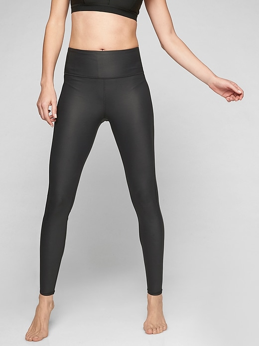 Athleta High Rise Shine Chaturanga Tights Black