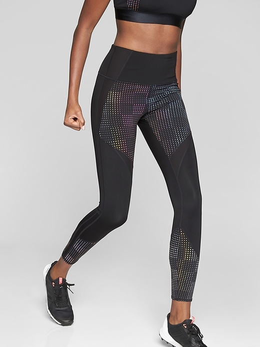 Athleta Aurora Precision 7/8 Tights Black