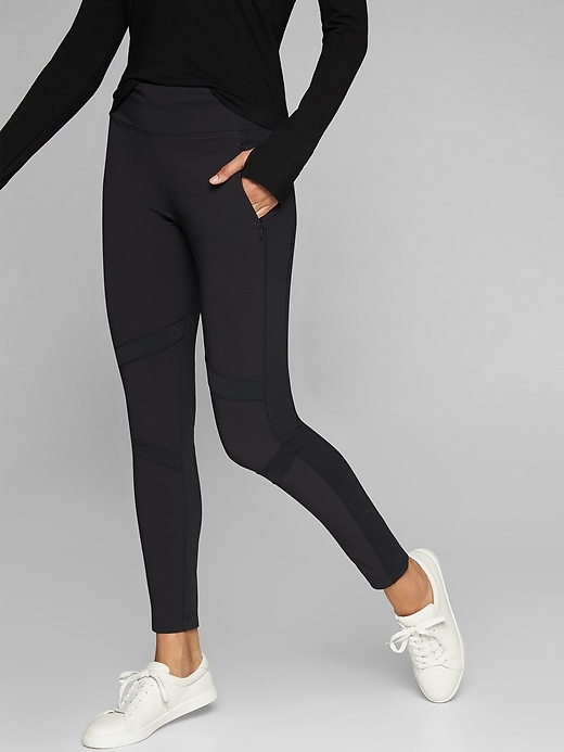 Athleta Highline Hybrid Summiter Tights Black