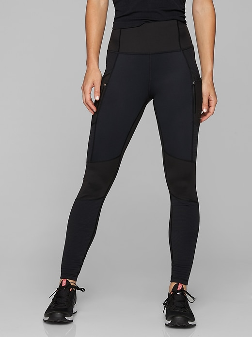 Athleta Sleet High Traverse Tights Black