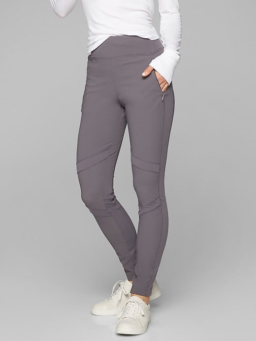 Athleta Highline Hybrid Summiter Tights Silver Bells