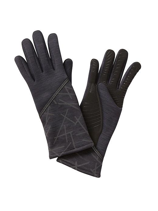 Athleta Womens Reflective Gloves By Ur® Black Size S/M