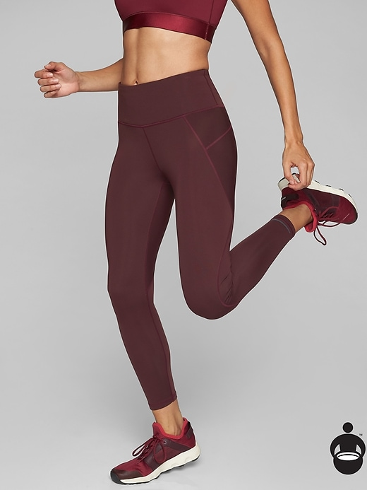 Athleta Stealth 7/8 Tights Cassis
