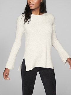 Wool Cashmere Bell Sleeve Sweater