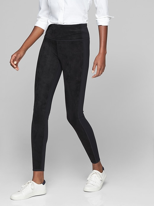 Athleta Sueded Strut Tights Black