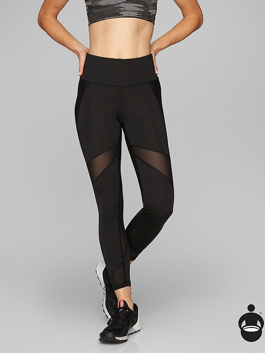 Athleta Stealth Mesh 7/8 Tights Black