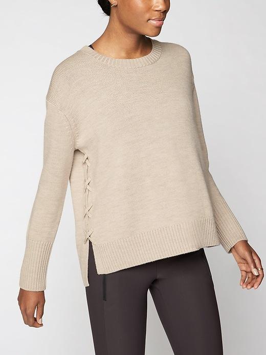 Athleta Merino Nopa Sweater Foxtail Taupe