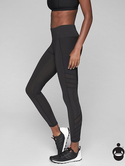 Athleta Slash Stealth 7/8 Tights Black