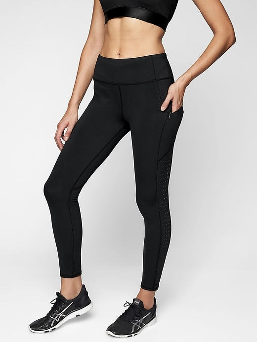 Athleta Laser Cut Contender Tights Black