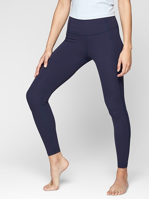 Athleta Salutation Tights Navy