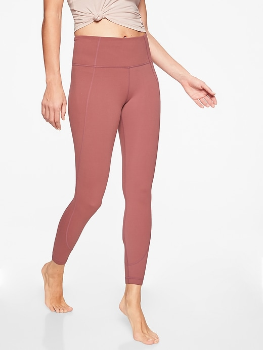 Athleta Salutation 7/8 Tights Crushed Berry