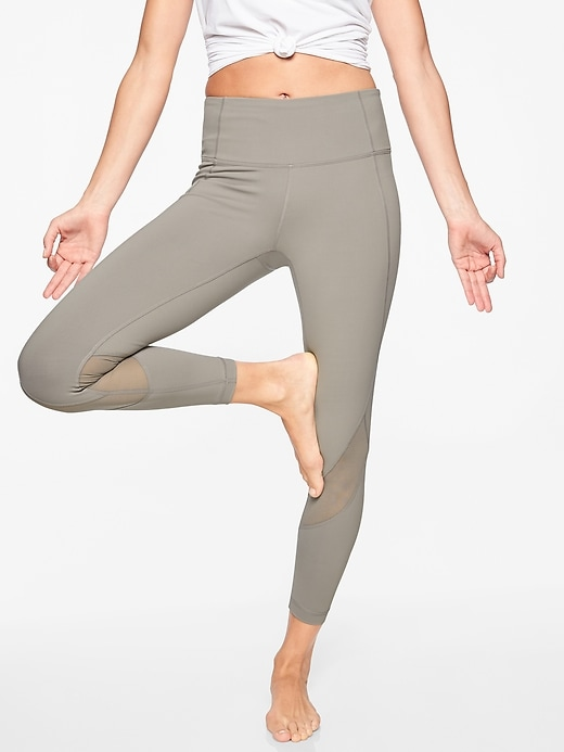 Athleta Eclipse 7/8 Tights Silver Grey