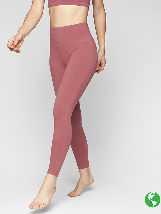 Athleta Organic Cotton Be Present Tights Crushed Berry
