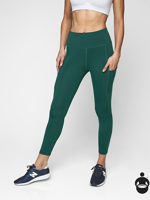 Athleta Up For Anything 7/8 Tights Dark Jade