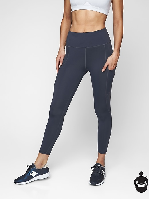 Athleta Up For Anything 7/8 Tights Navy