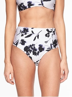 Aqualuxe Print High Waist Bottom