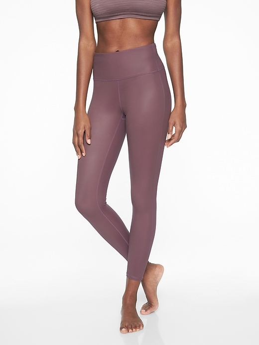 Athleta High Rise Shine Chaturanga Tights Dusty Plum